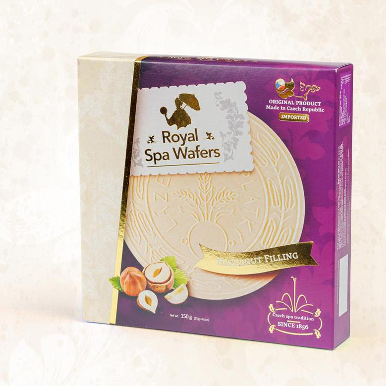 Royal Spa Wafers, krabička na lázeňské oplatky